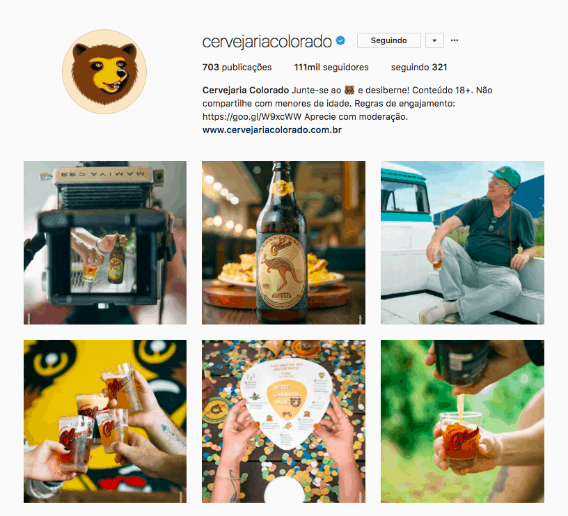 Instagram Cervejaria Colorado