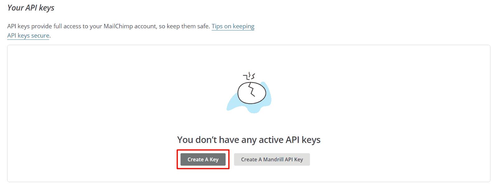 Criando sua chave API no MailChimp