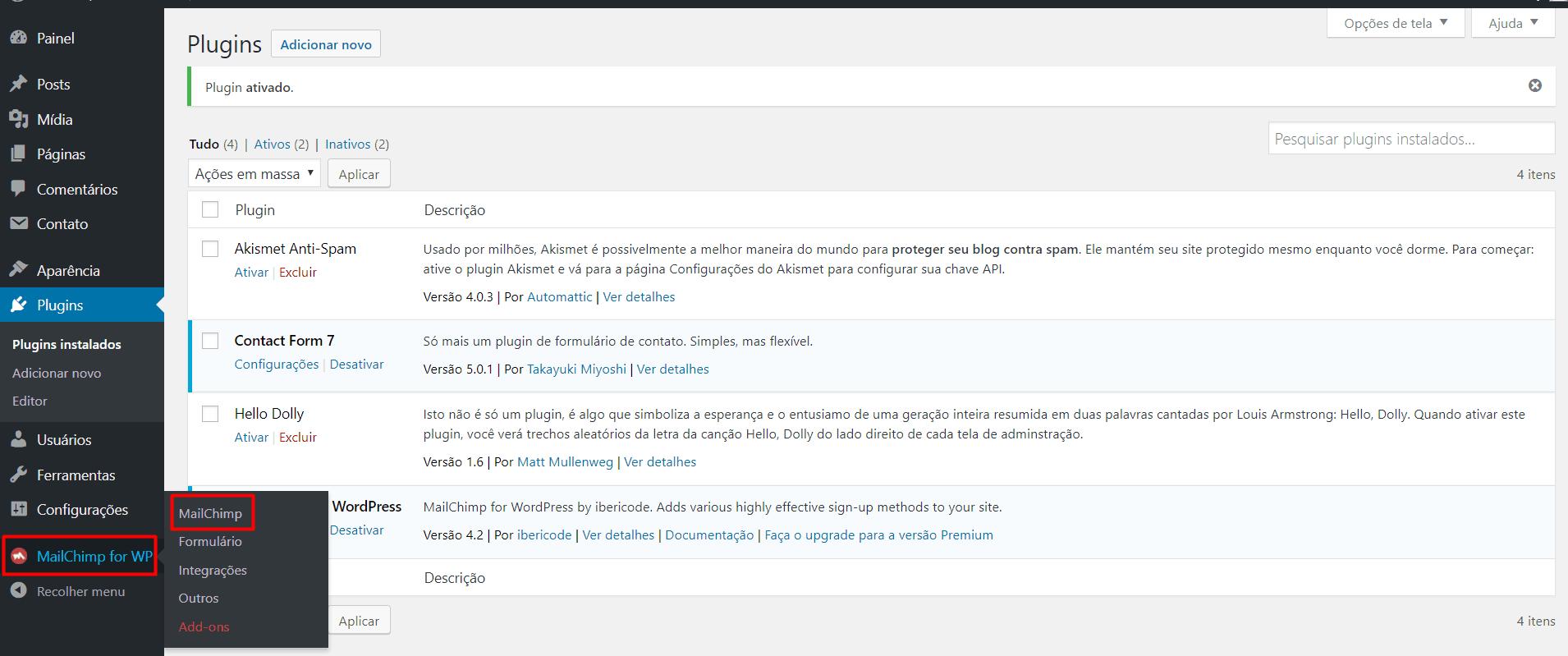 MailChimp for WP