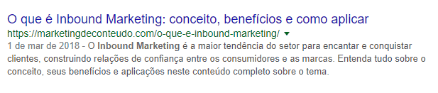 Meta description Inbound Marketing