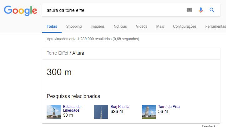 SERP altura da torre eiffel
