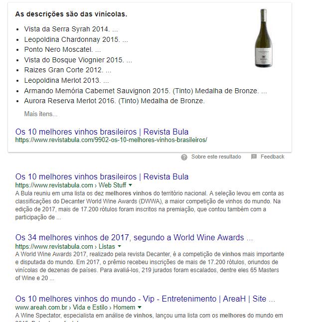 serp melhores vinhos