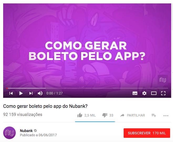 Vídeo Nubank