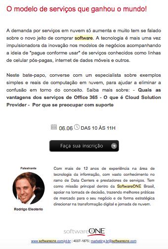 Webinar da SoftwareONE