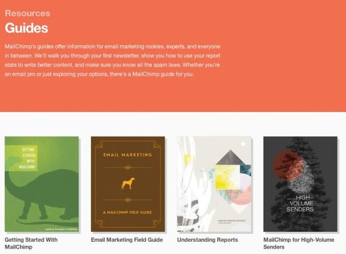 MailChimp biblioteca de conteúdo