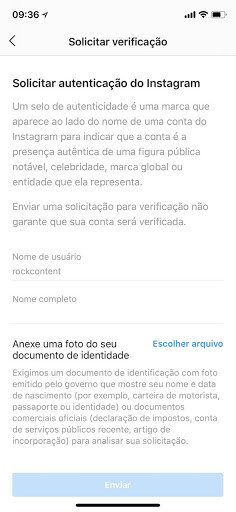 conta verificada instagram