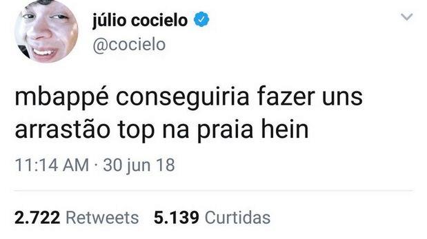 twitter julio cocielo refletindo a crise youtubers no brasil