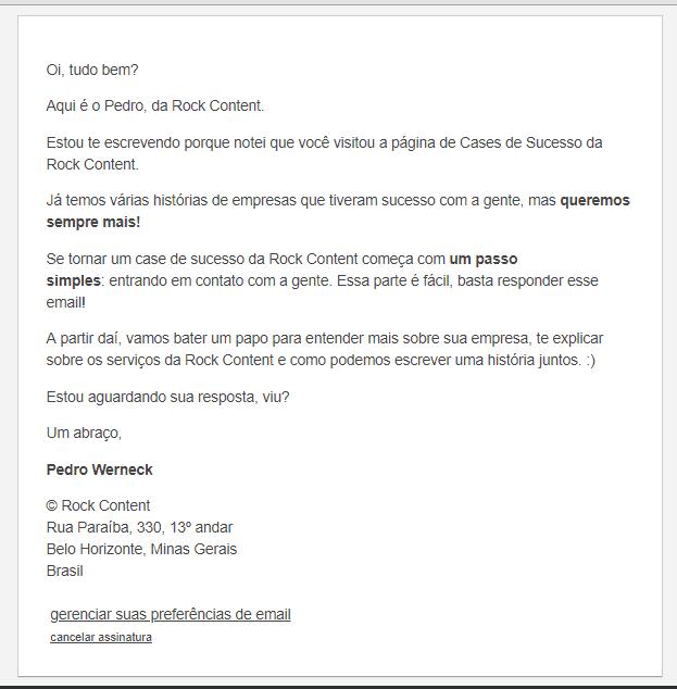Exemplo Email Segmentado