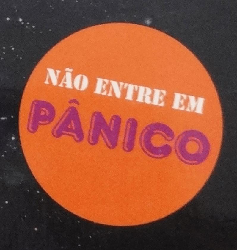 Não entre em pânico