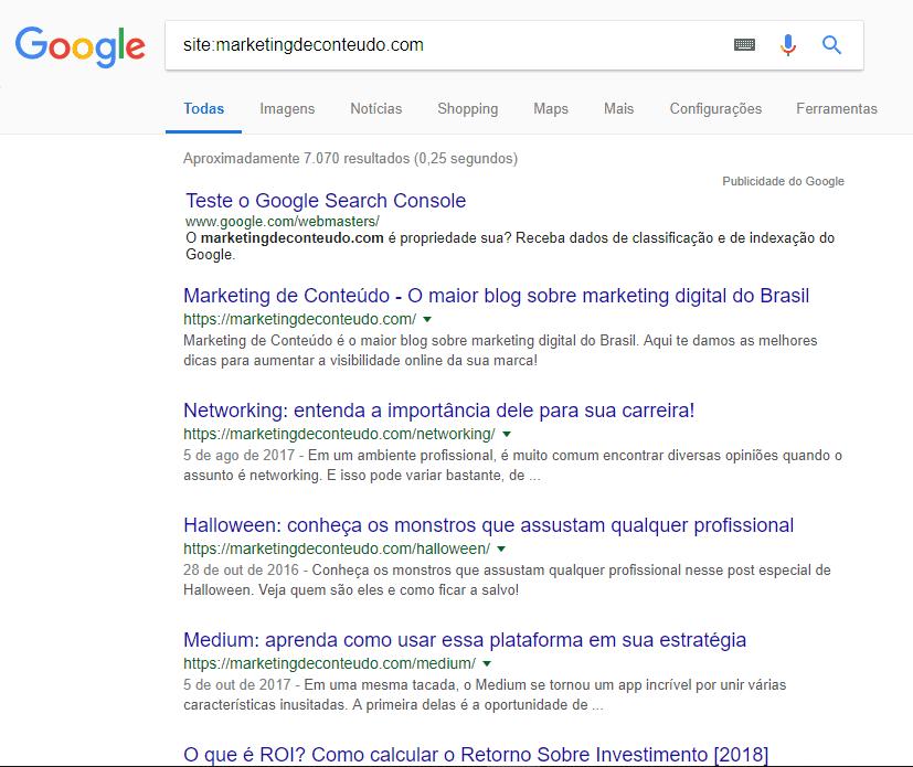 Busca avançada no Google