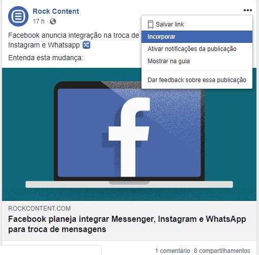 Embed Code Facebook