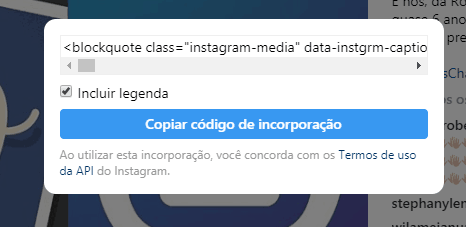 embed code Instagram