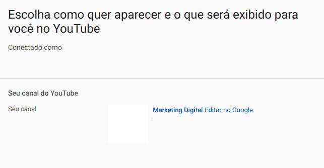 mudar nome do canal do Youtube 2