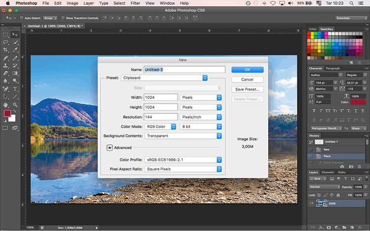 preparando um arquivo com as predefinições ideais para gerar um layout qualificado