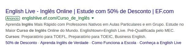 url legível no google ads