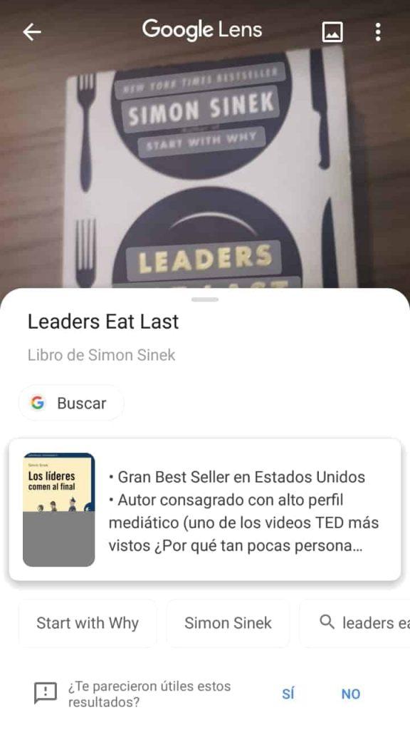 Busca por livro no Google Lens