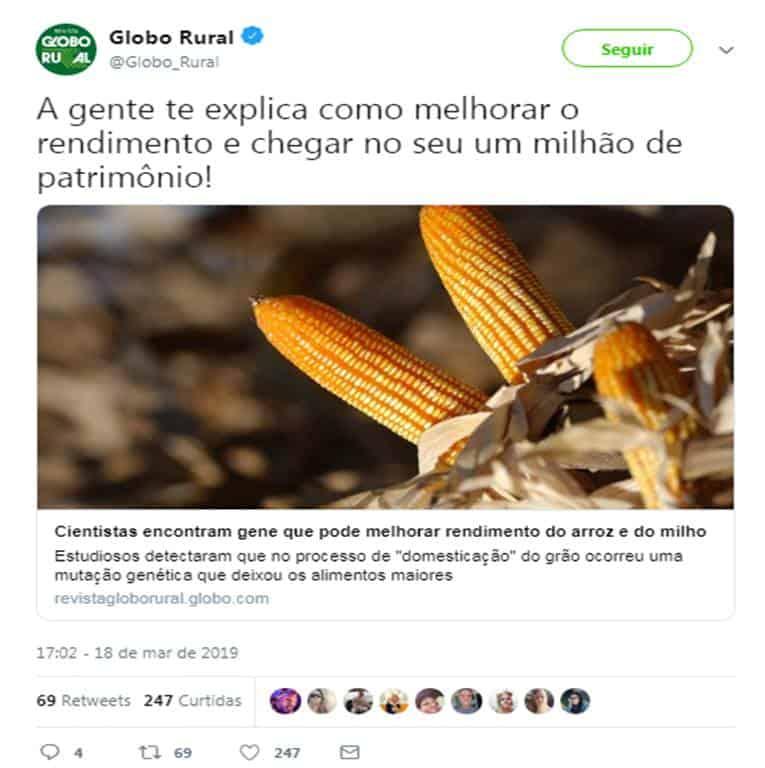 Twitter Globo Rural