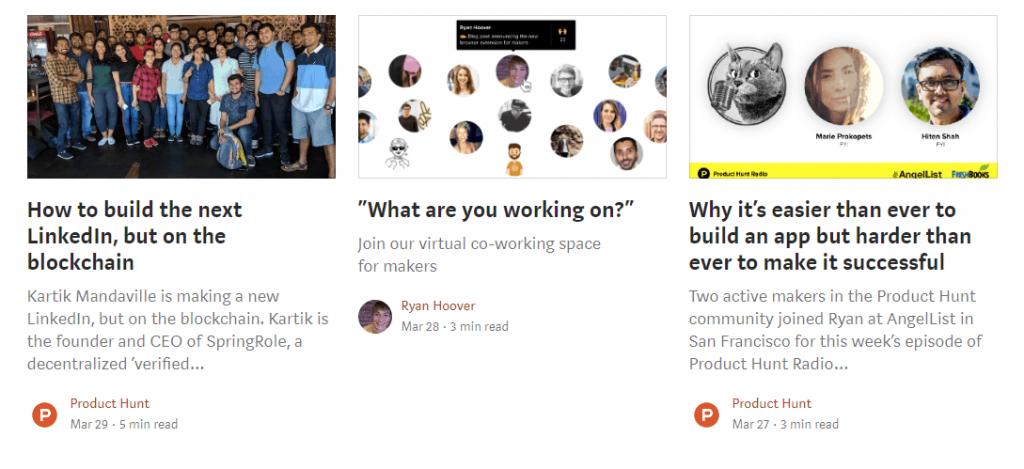 melhores blogs do Medium: Product Hunt