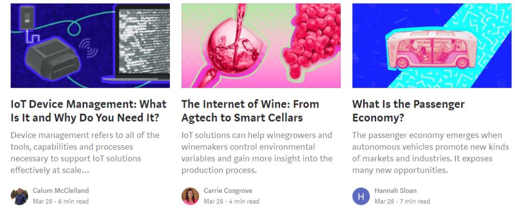 melhores blogs do Medium: IoT For All