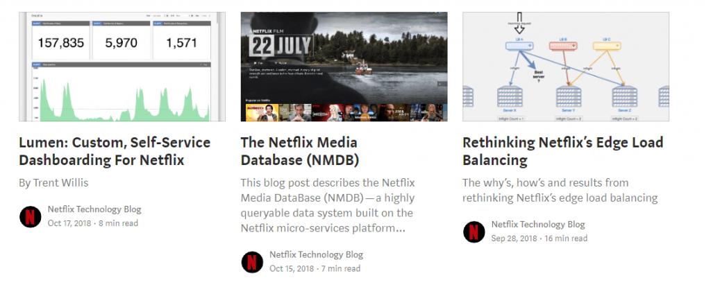 melhores blogs do Medium: Netflix TechBlog