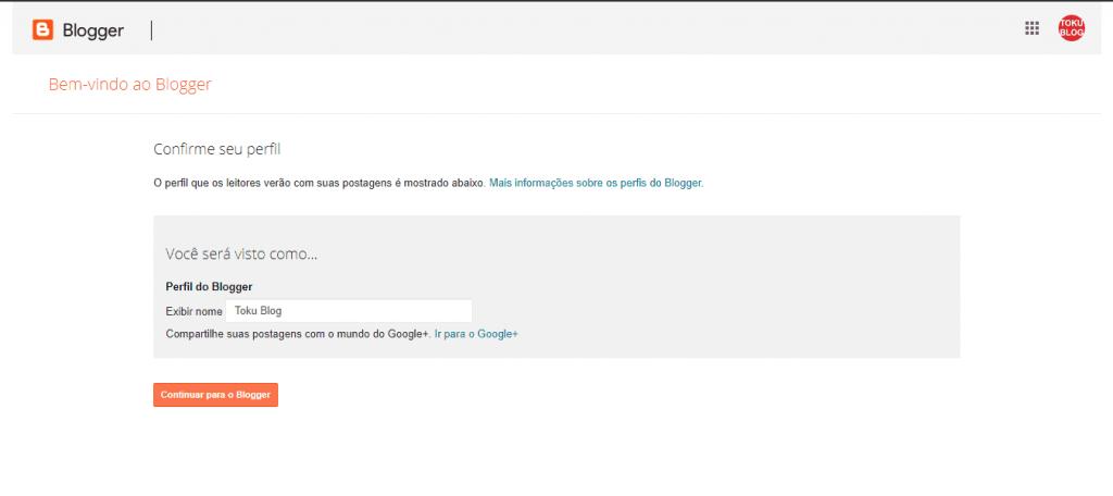 como criar um blog no Blogger