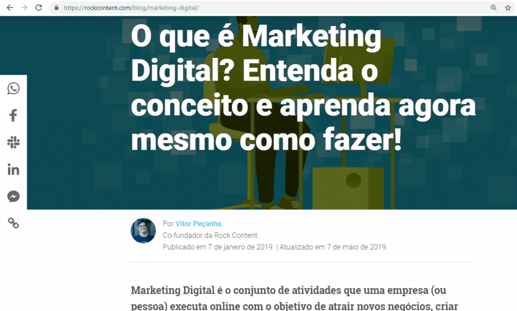 Post sobre marketing digital