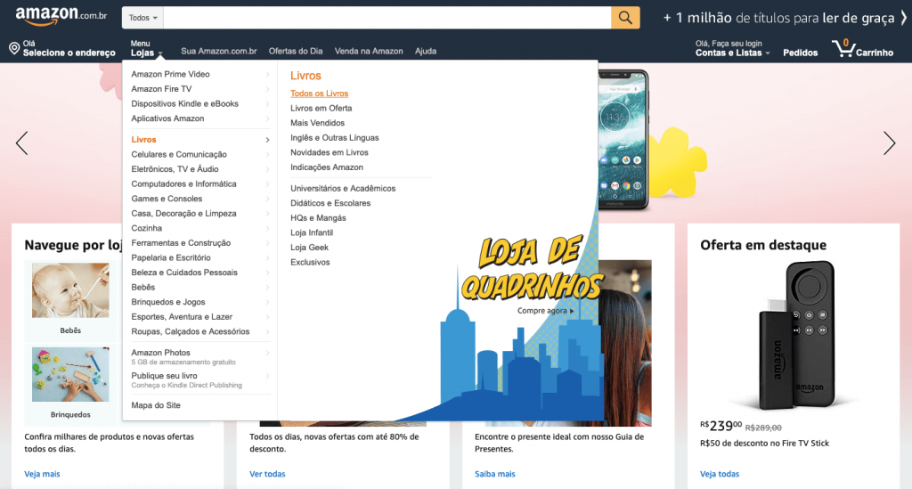 seo e web design Amazon