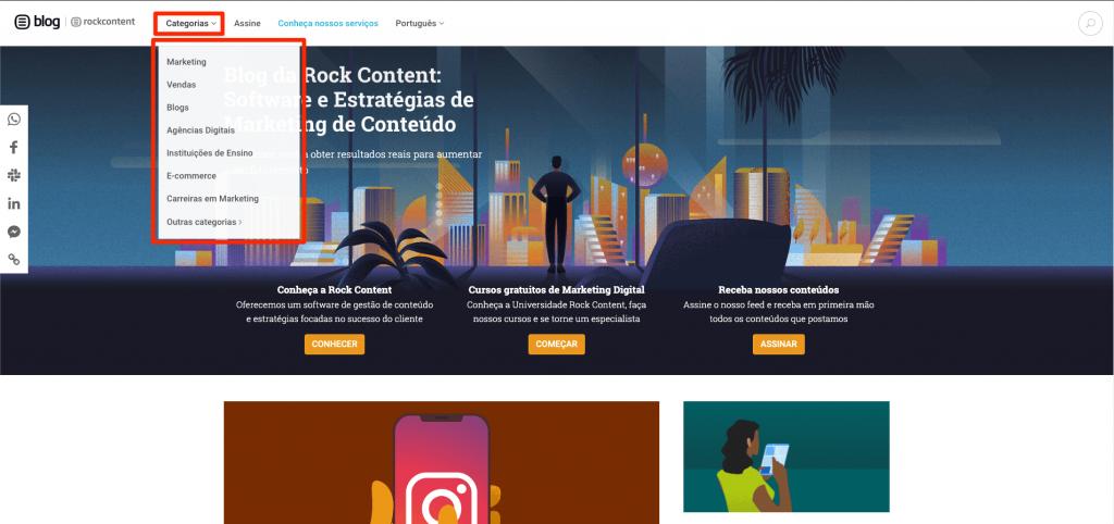 seo e web design categorias do blog