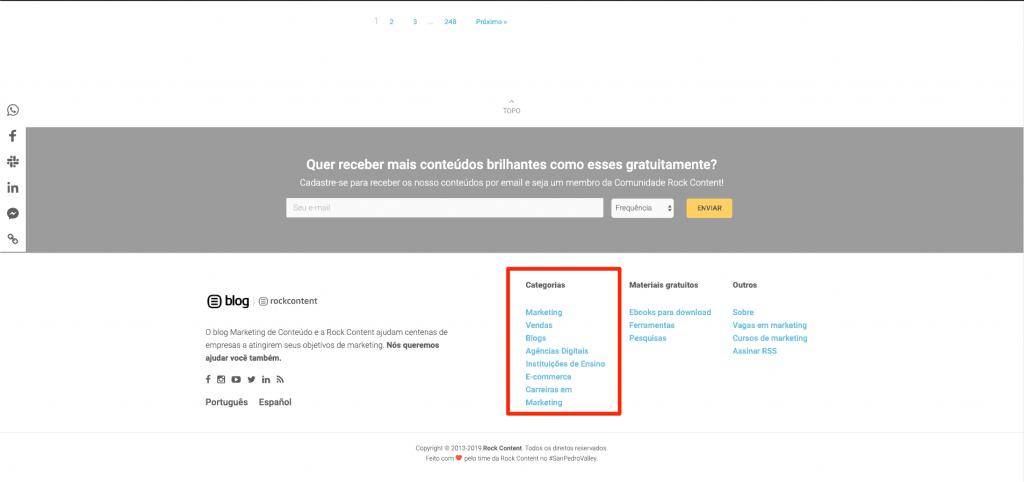 seo e web design menu do blog