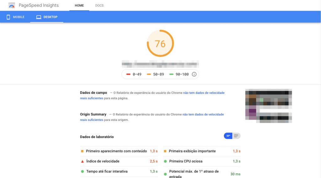 seo e web design pagespeed inside