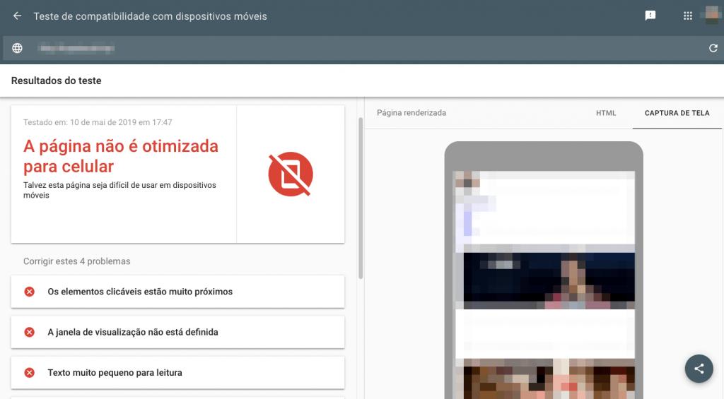 seo e web design mobile-friendly test