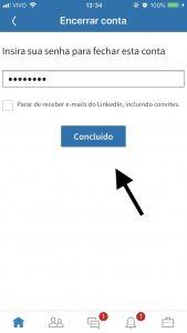 encerrar conta linkedin