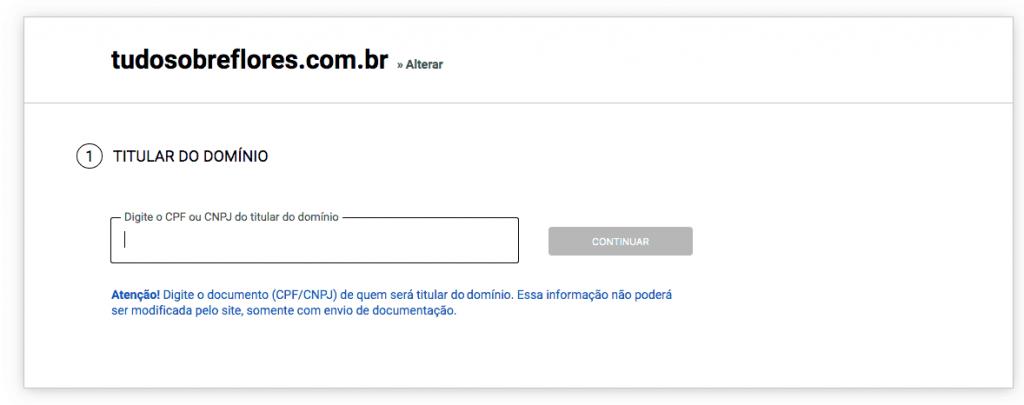 registro de domínio
