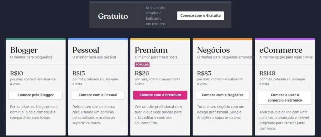 Planos WordPress