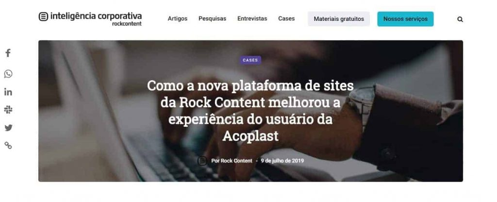 Blog Inteligência Rock Content