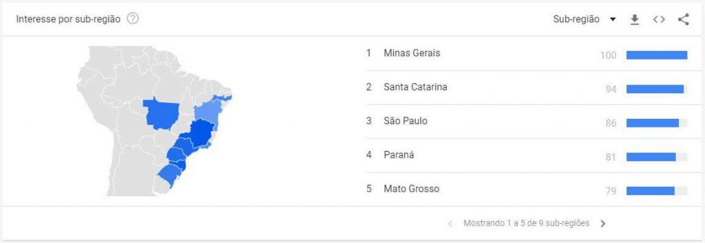 localização Google Trends