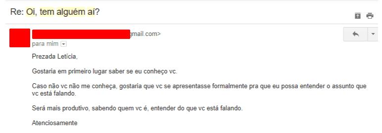 feedback de email