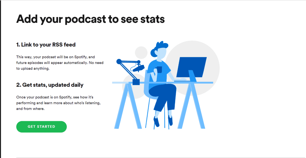 enviando podcast ao spotify
