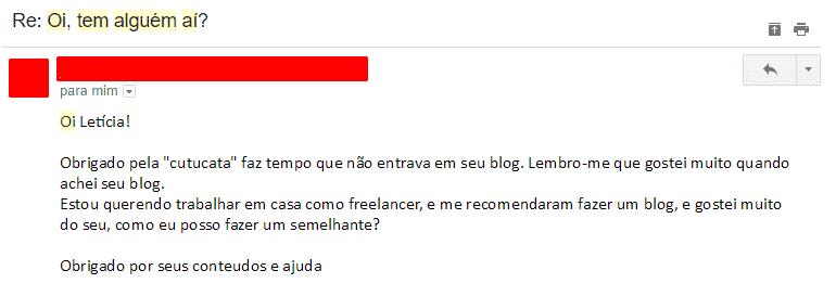 feedback de emails