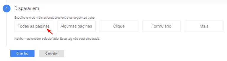 configuração do tag manager
