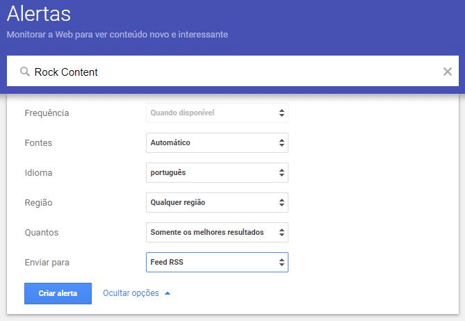 ferramenta de espiar a concorrência Google Alerts