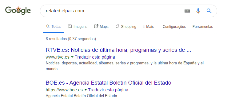 Sites relacionados