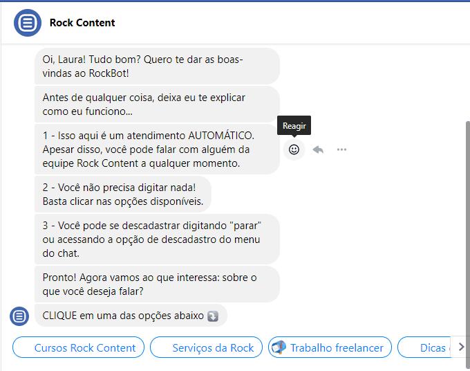 mensagens automáticas do facebook