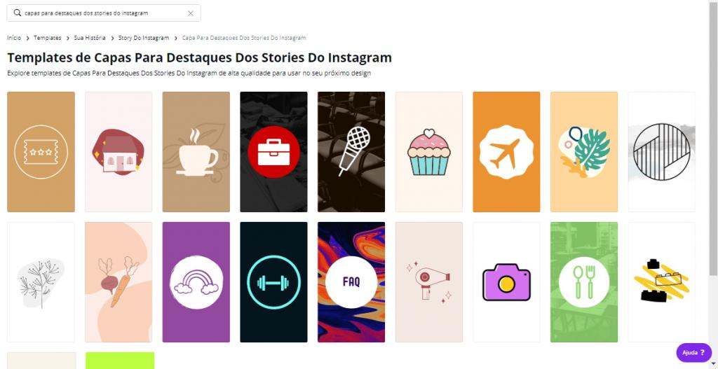 templates de destaque do instagram