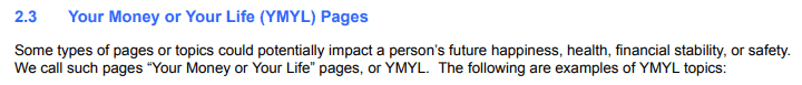 your money your life do google