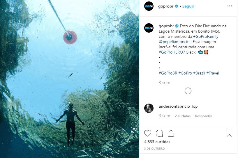 exemplo de como a GoPro busca atingir os millennials