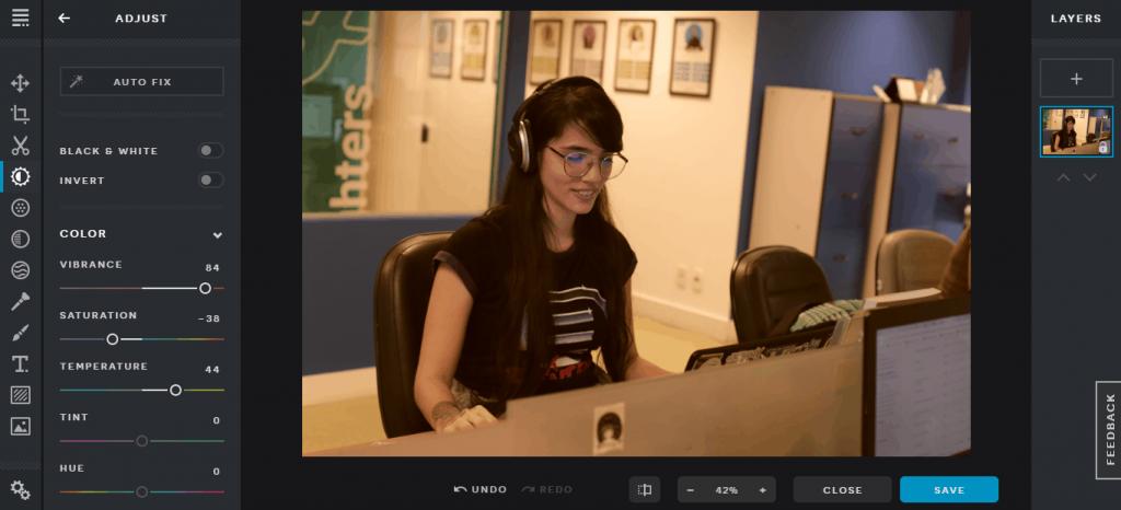 editor de fotos online - Pixlr