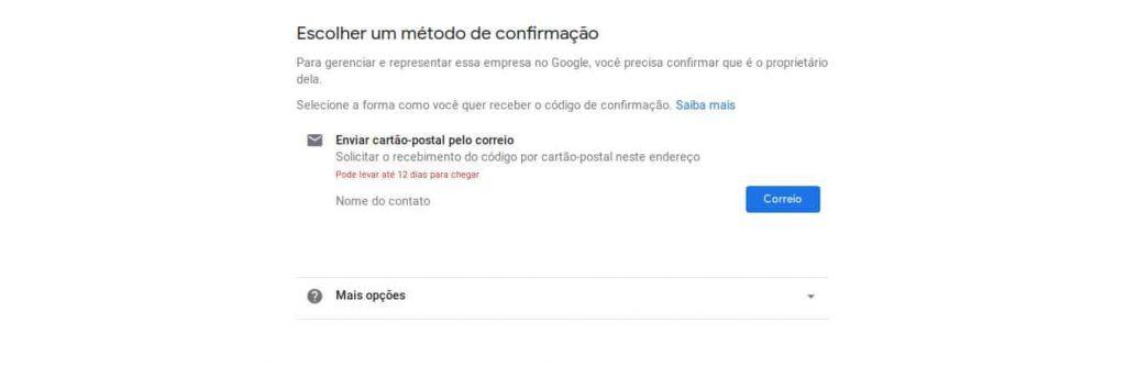 confirmação no google maps