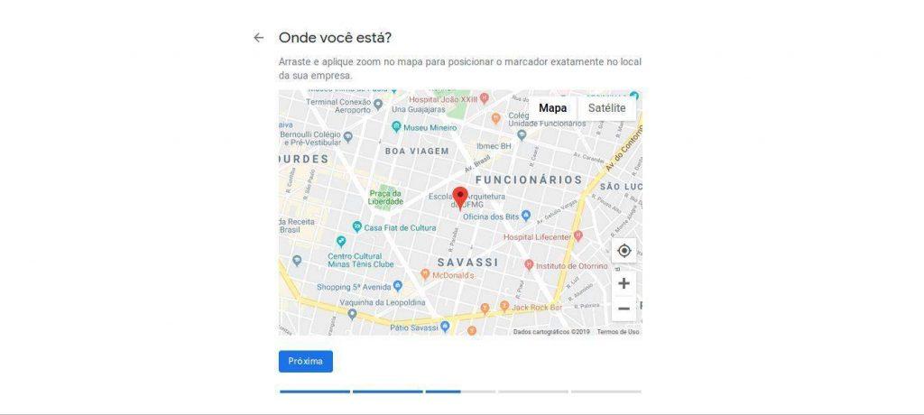 localização da empresa