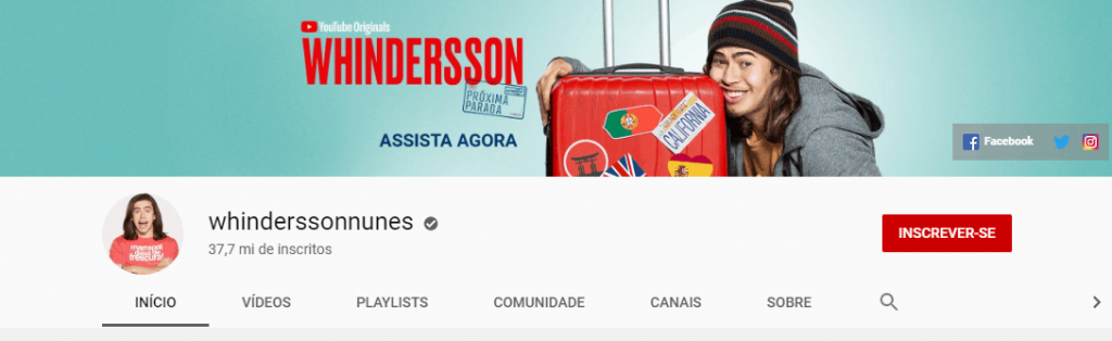 youtube do Whindersson Nunes